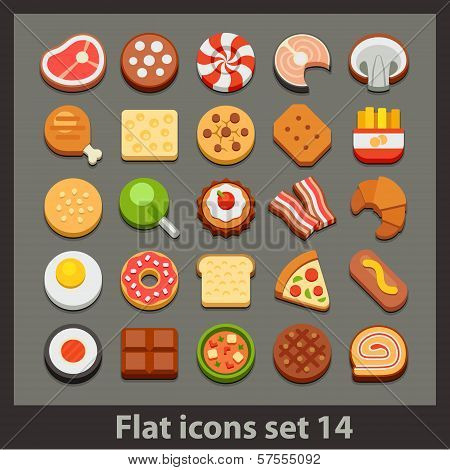 vector flat icon-set 14