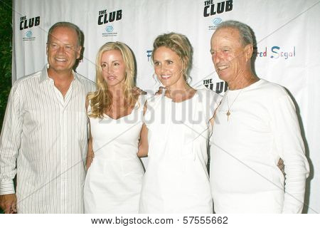 Kelsey Grammer and Camille Grammer with Tina Segal and Fred Segal at the Birthday Celebration for Fred Segal and Charity Auction. Private Location, Malibu, CA. 08-29-09