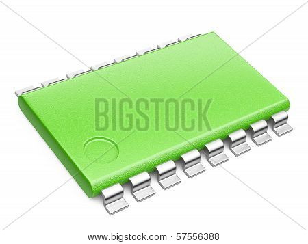 Green Central Processor Unit Concept. Eco Concept