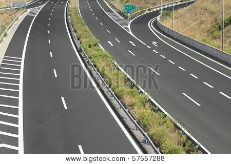 Egnatia Motorway In Greece