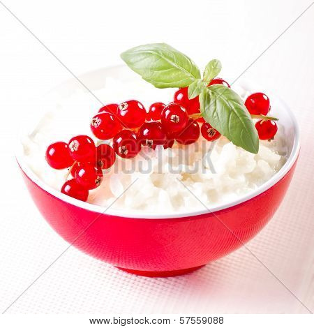 Milk Rice And Redcurrants