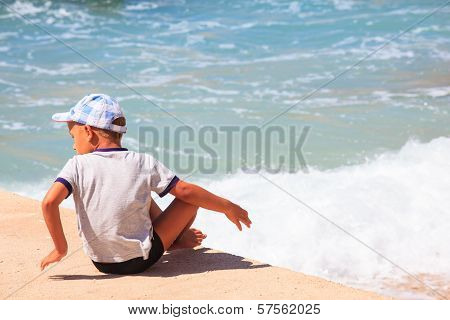 Child In The Baska Beach, Croatia