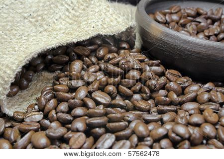 Coffee Beans Closeup Iv
