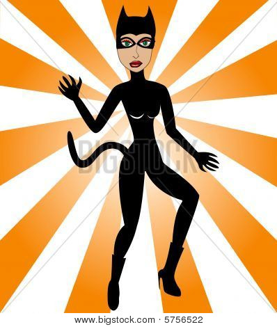 Halloween Cat Woman
