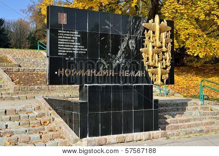 Monument To Pilots Of The Regiment Normandy - Neman. Kaliningrad (koenigsberg Before 1946), Russia