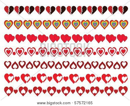 Hearts Borders Pack