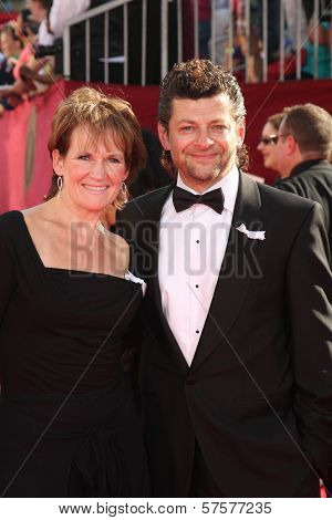 Lorraine Ashbourne and Andy Serkis at the 61st Annual Primetime Emmy Awards. Nokia Theatre, Los Angeles, CA. 09-20-09