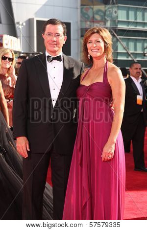 Stephen Colbert and Evelyn McGee at the 61st Annual Primetime Emmy Awards. Nokia Theatre, Los Angeles, CA. 09-20-09