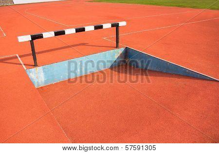 Black and white hurdles
