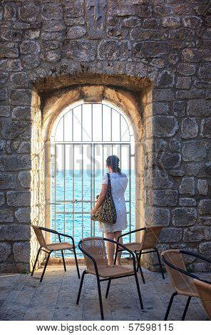 Girl Looking The Sea, Dubrovnik