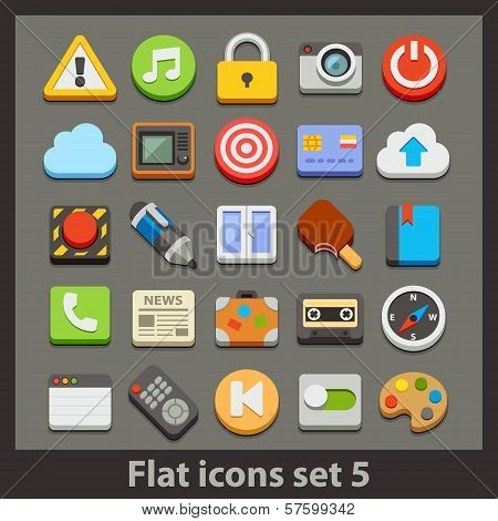 vector flat icon-set 5