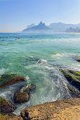 pic of ipanema  - Arpoador beach in Ipanema, Rio de Janeiro ** Note: Shallow depth of field - JPG