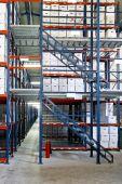 stock photo of self-storage  - Interior shot of warehouse with self storage boxes - JPG
