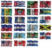 Постер, плакат: Набор флагов Северная Америка