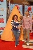 Marissa Jaret Winokur with Judah Miller and their son Zev at the Los Angeles Premiere of 'Cloudy Wit