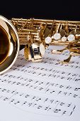 stock photo of trombone  - Close - JPG