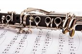 stock photo of clarinet  - Close - JPG