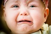 image of tears  - Baby crying  - JPG