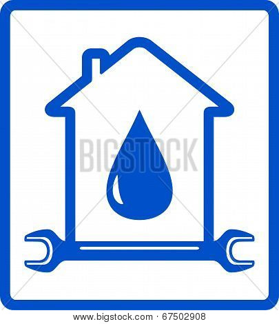 water in home - plumber symbol