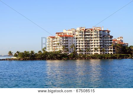 Condominiums on the water