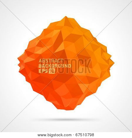 Abstract 3d origami polygonal sphere vector design element