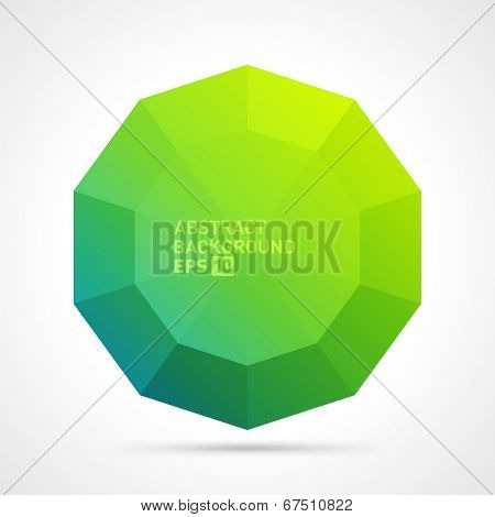 Abstract 3d origami polygonal speech bubble vector background