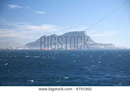 The Rock Of Gibraltar From Ocean