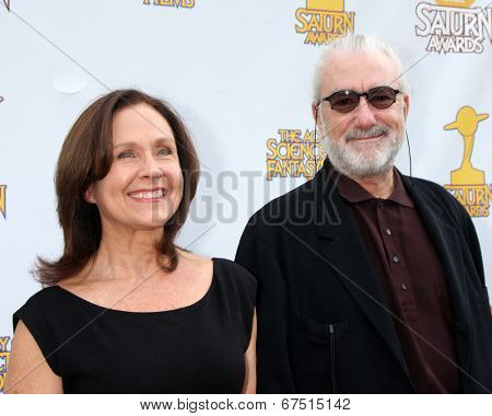 LOS ANGELES - JUN 26:  Erin Gray, Richard Hissong at the 40th Saturn Awards at the The Castaways on June 26, 2014 in Burbank, CA