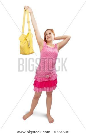 Girl  With Yellow Handbag