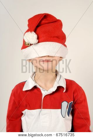 Child With Santa Claus Hat