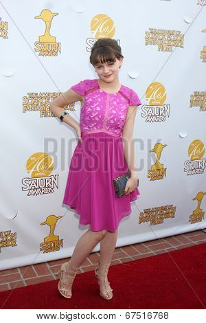 LOS ANGELES - JUN 26:  Joey King at the 40th Saturn Awards at the The Castaways on June 26, 2014 in Burbank, CA