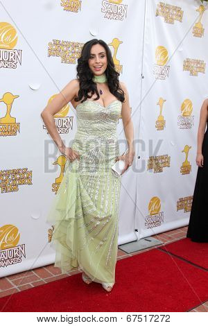 LOS ANGELES - JUN 26:  Valerie Perez at the 40th Saturn Awards at the The Castaways on June 26, 2014 in Burbank, CA