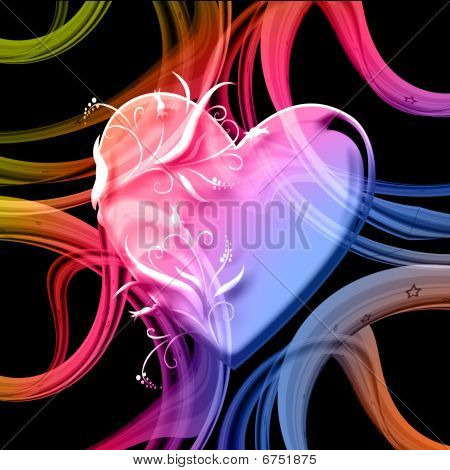 Heart And Swirls
