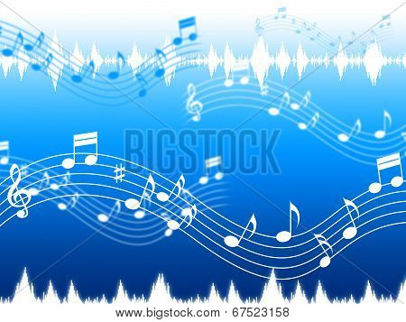 Blue Music Background Means Soul Jazz Or Blues.