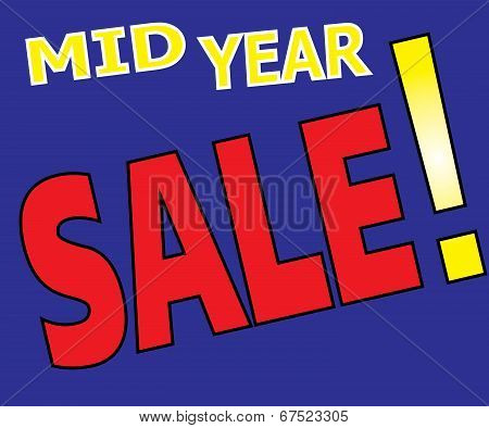 Mid Year Sale Promotion Label