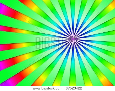 Colourful Dizzy Striped Tunnel Background Shows Futuristic Dizzy Artwork.