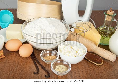 Cottage cheese, spices, butter and mixer