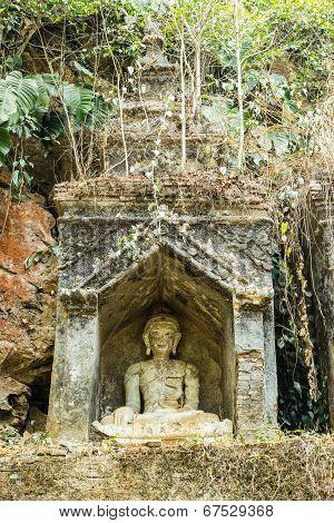 Old Buddha In Chiangmai Thailand