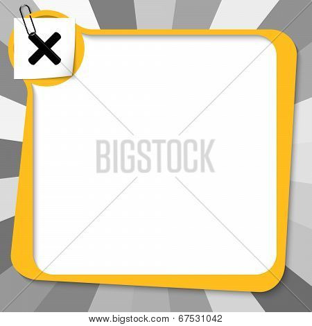 Yellow Text Box With Paper Clip And Ban Symbol