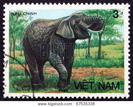 Postage Stamp Vietnam 1986 Asian Elephant
