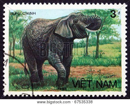 Postage Stamp Vietnam 1986 Asian Elephant
