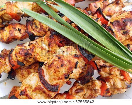 Shish Kebab And Greens
