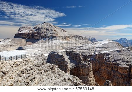 Dolomites Moutnain Peaks View To Piz Boe, Sella, Italy