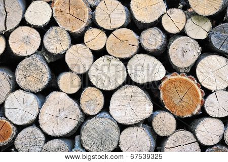 Stacked log background