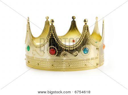 Kings crown isolated over white background