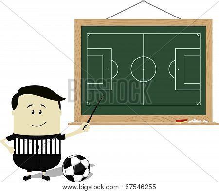 school soccer referee teaching