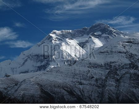 Annapurna Two, High Mountain In Nepal