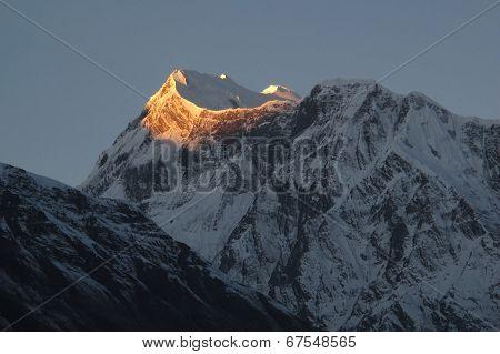 First Sunlight On The Annapurna