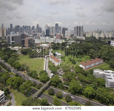Singapore Cbd City Skyline