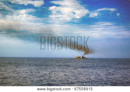 Ship In Blue Sea
